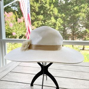 August Hat Company Floral Accent Hat